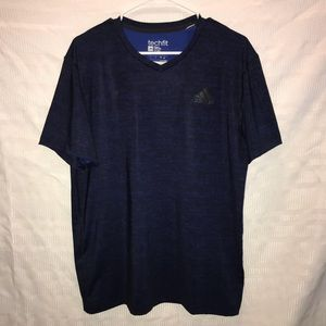 Adidas Techfit fitted athletic shirt top size L